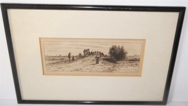 Engraving signed Otto Bacher