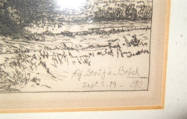 Engraving signed Otto Bacher - 2