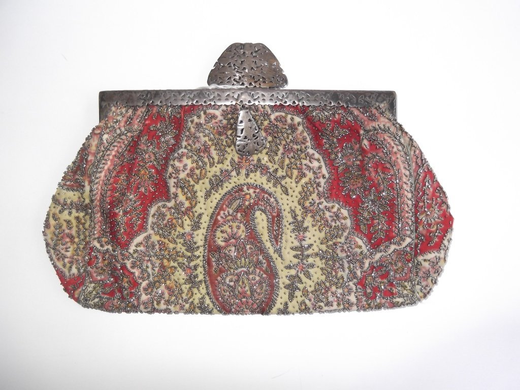 19th c.  beaded purse
