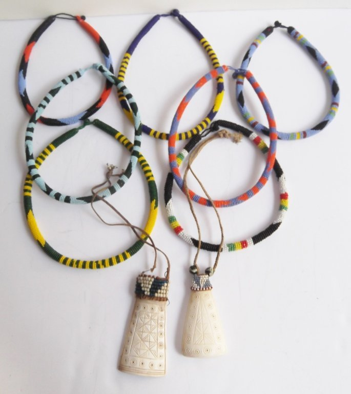 9 African necklaces