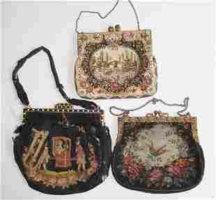 3 Vintage purses