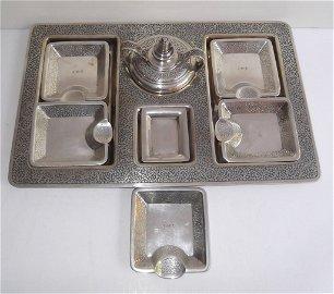 Tiffany & Co. sterling silver smoking set