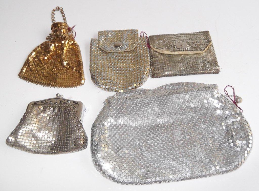 5 vintage mesh purses
