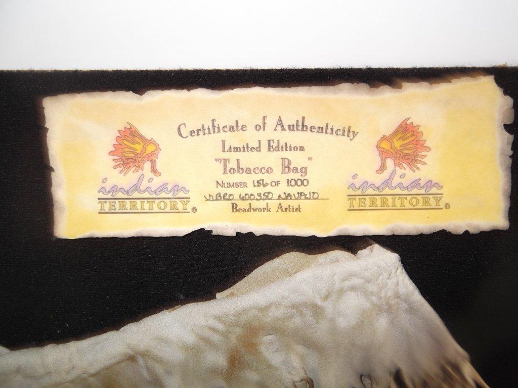 Indian tobacco bag framed - 2