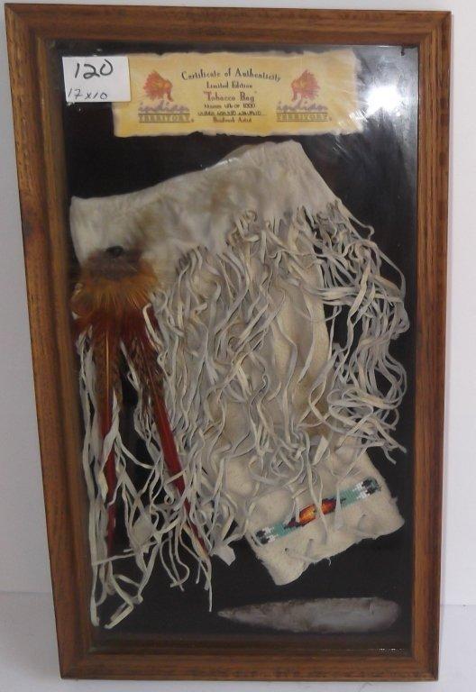 Indian tobacco bag framed - 3
