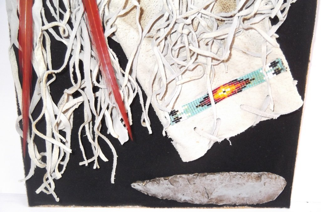 Indian tobacco bag framed - 5