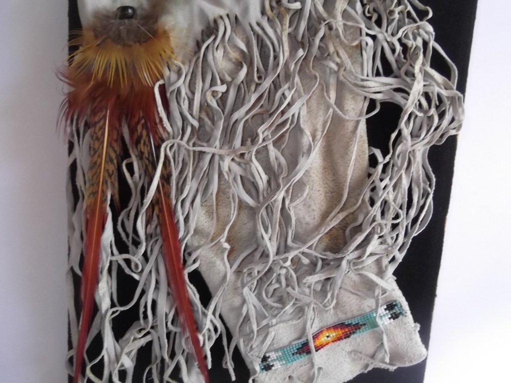 Indian tobacco bag framed - 6