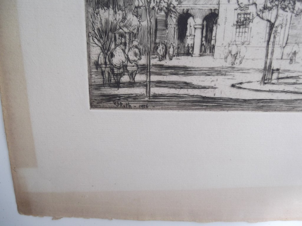 2 E.D. (Ernest David)  Roth etchings - 10