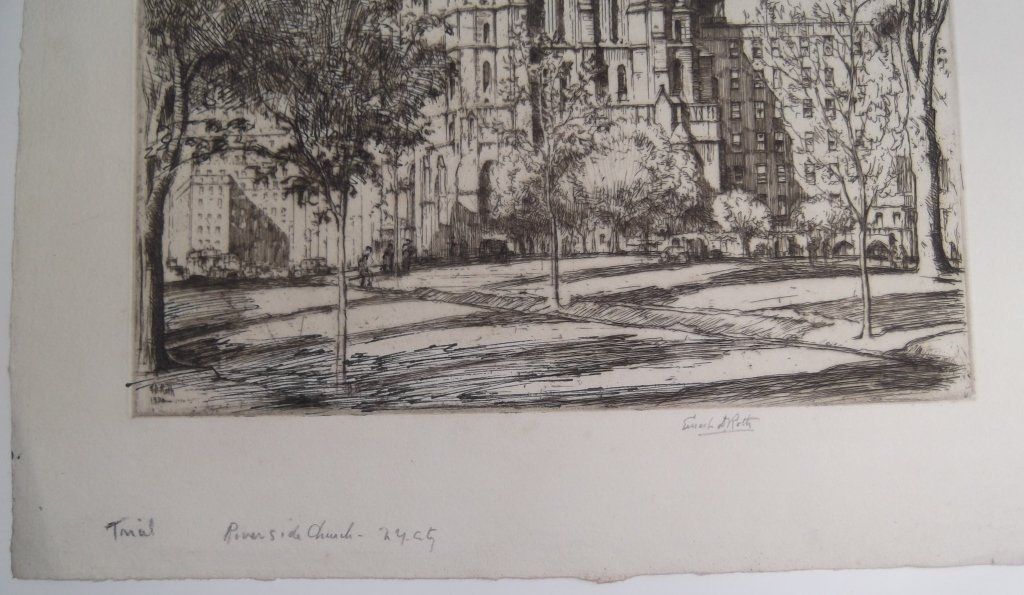 2 E.D. (Ernest David)  Roth etchings - 4
