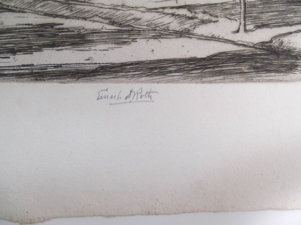2 E.D. (Ernest David)  Roth etchings - 6