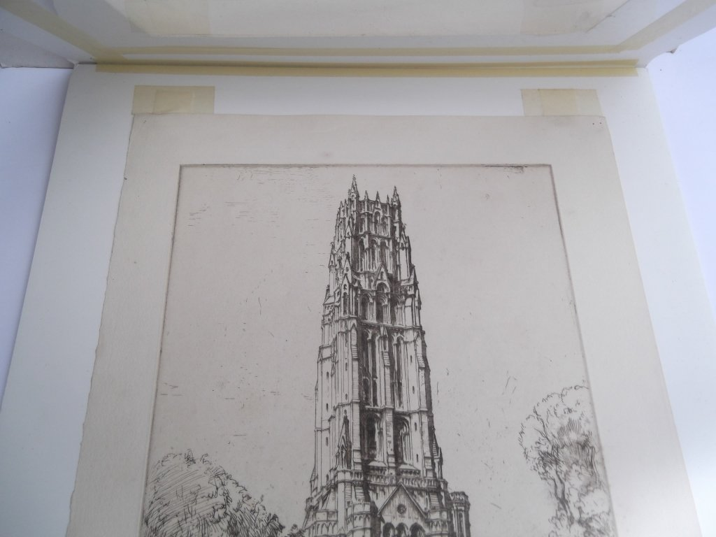 2 E.D. (Ernest David)  Roth etchings - 7