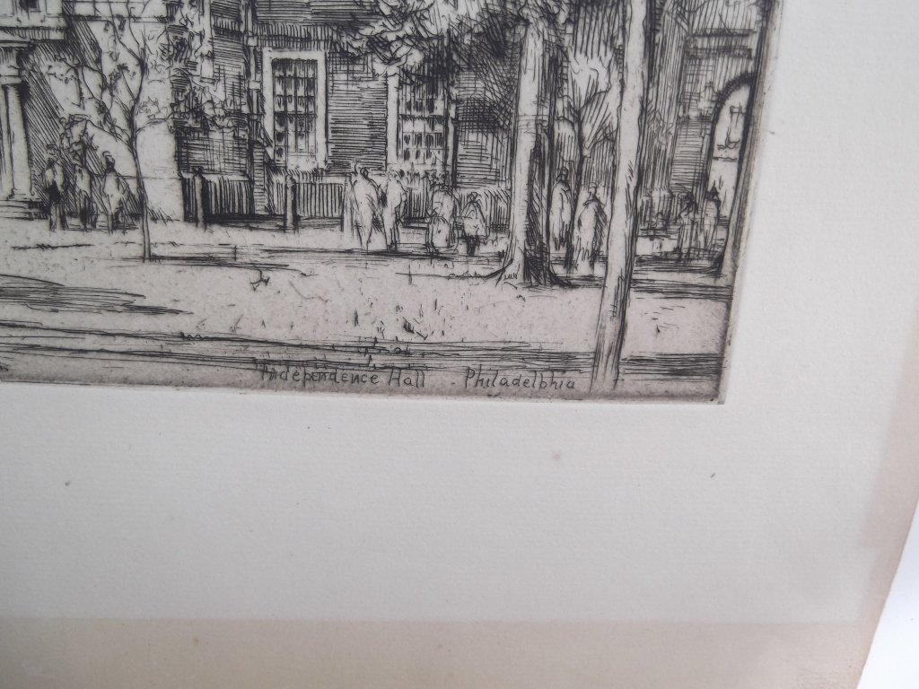 2 E.D. (Ernest David)  Roth etchings - 9