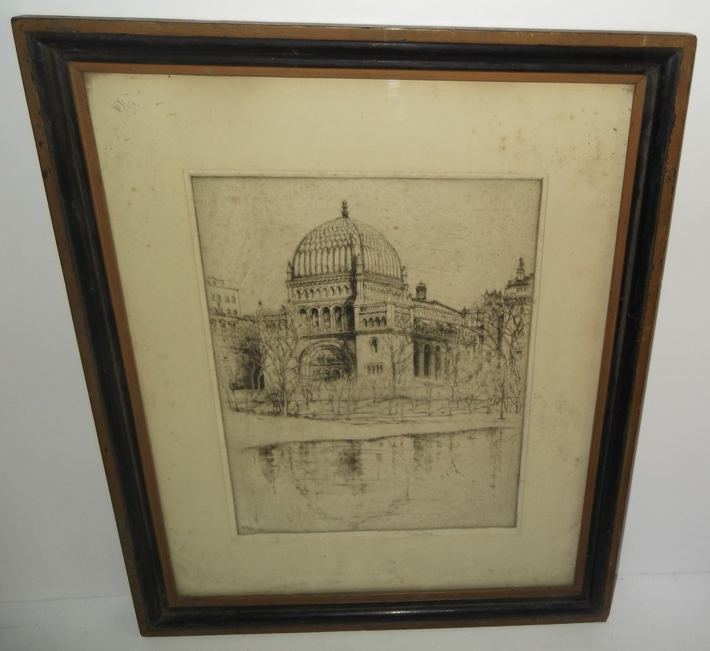 1924 E.D. (Ernest David)  Roth etching