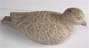 Stone carved dove sculpture