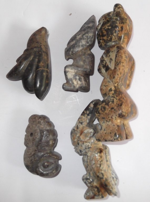 5 Stone carved figures - 3