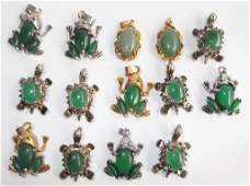 14 piece costume jewelry charms/pendants