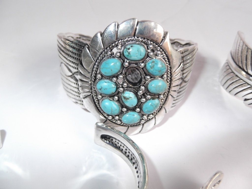 6 turquoise cuff bracelets - 2