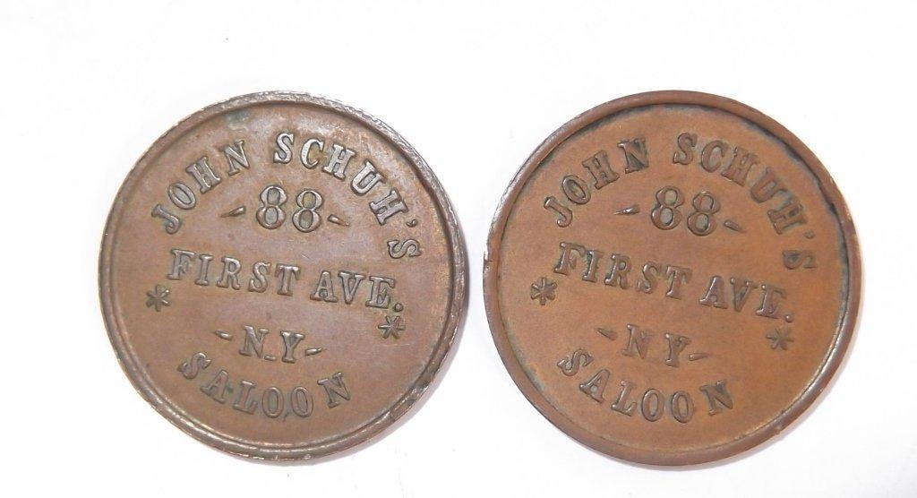 18 Civil War token coins - 3