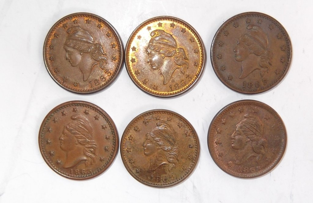 18 Civil War token coins - 4