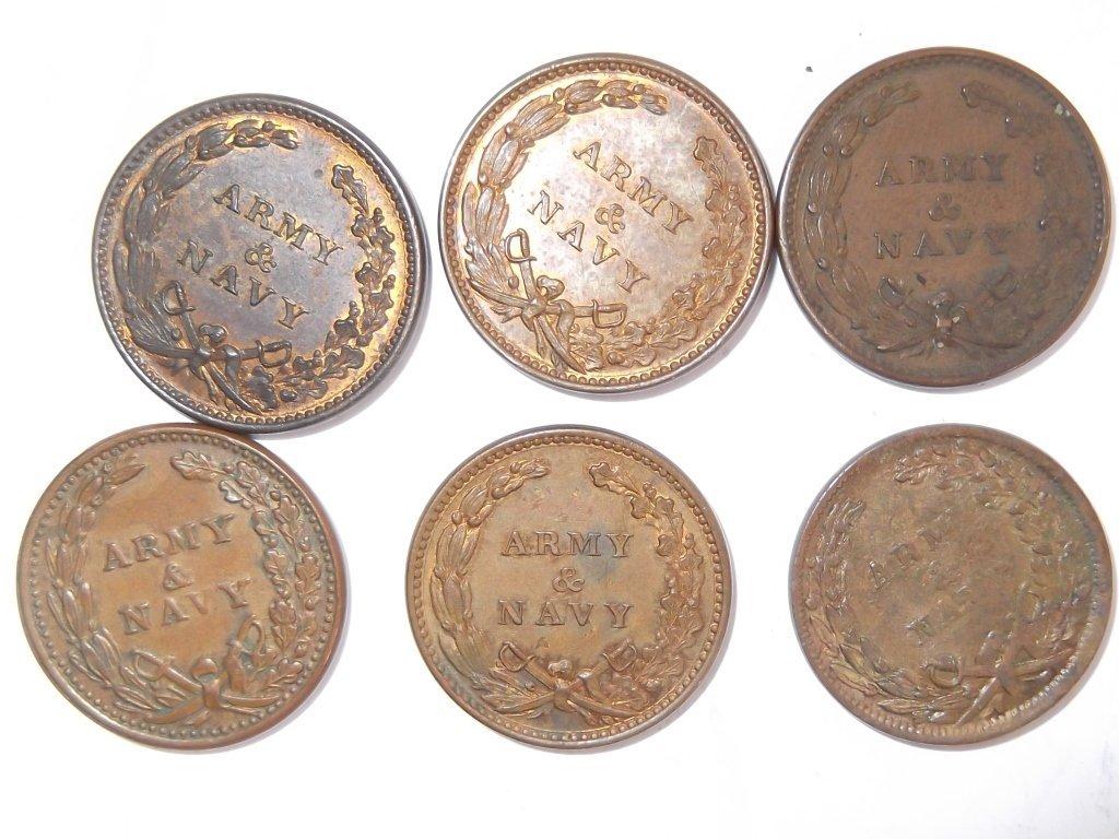 18 Civil War token coins - 5