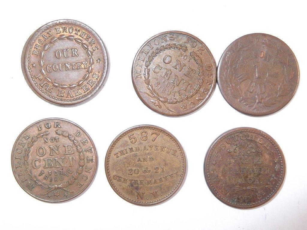 18 Civil War token coins - 7