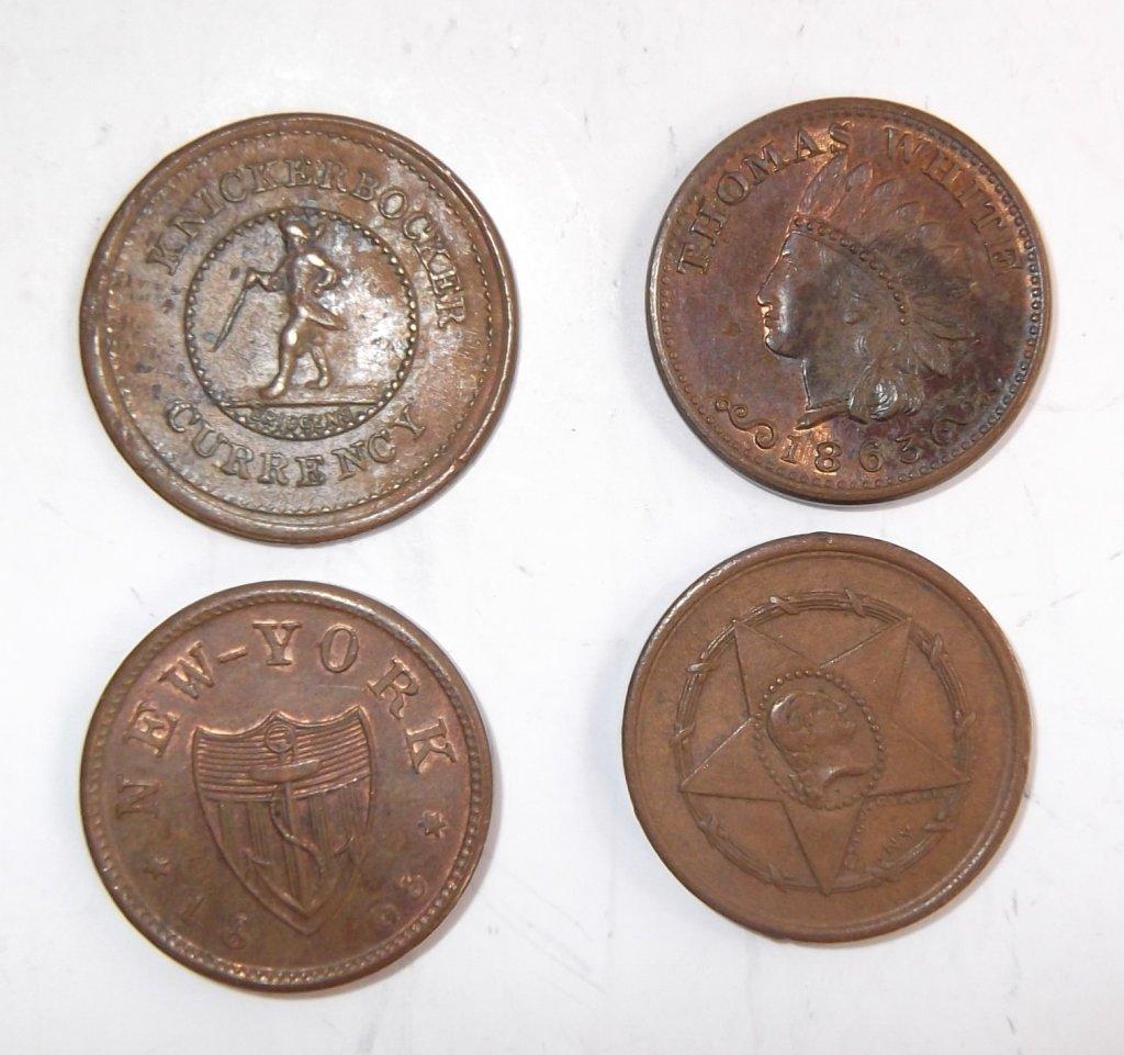 18 Civil War token coins - 8