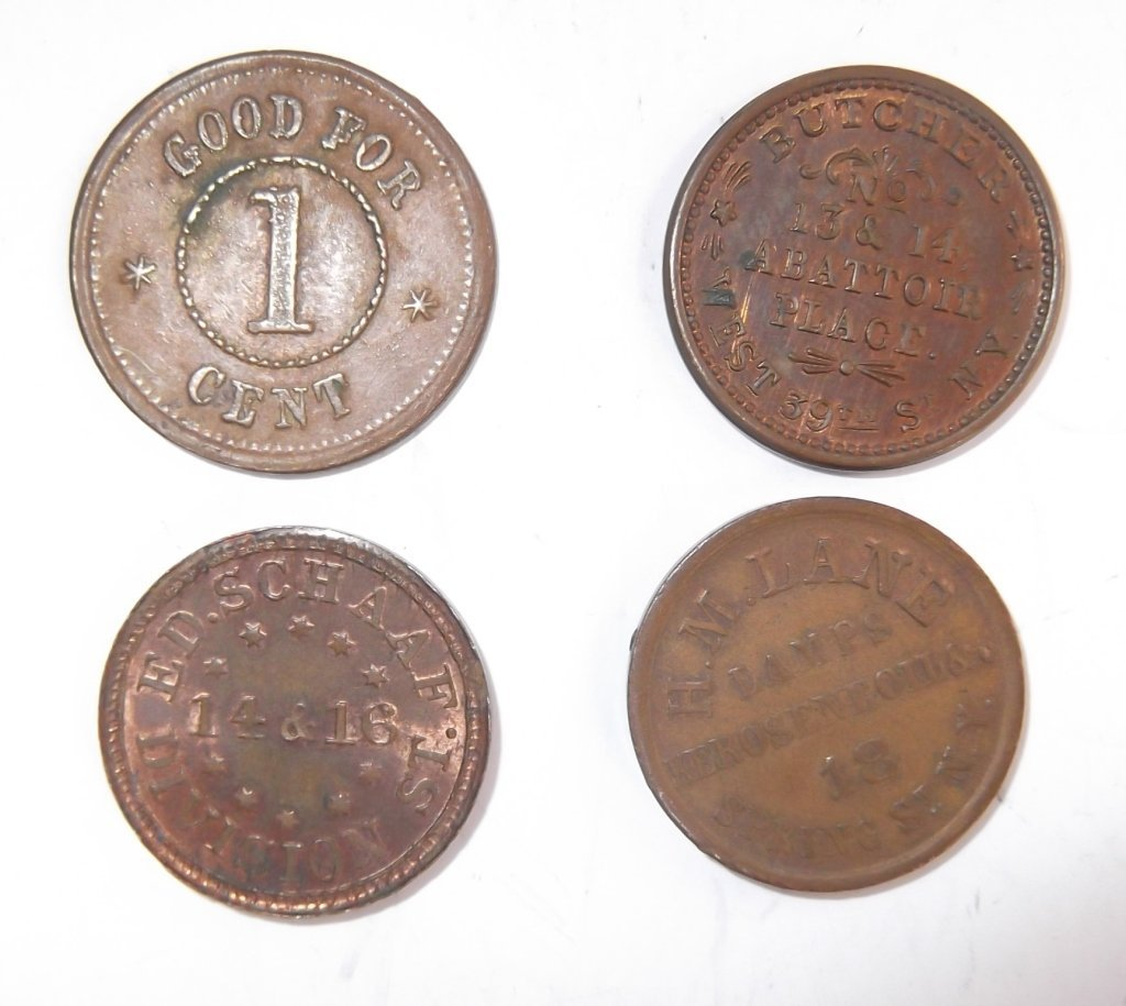 18 Civil War token coins - 9