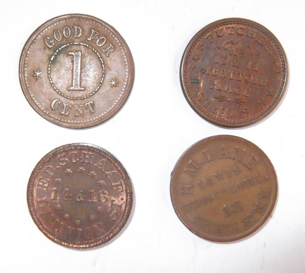 18 Civil War token coins - 9
