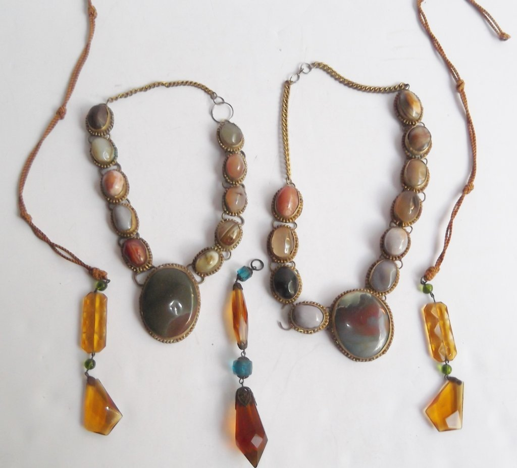6 1960's Persian necklaces