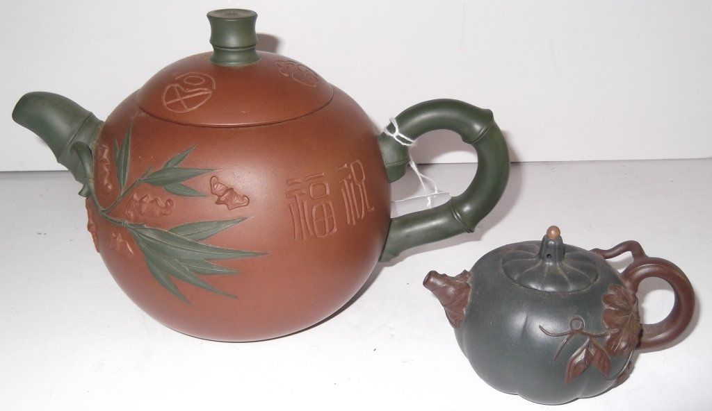 2 Yixing Chinese clay teapots
