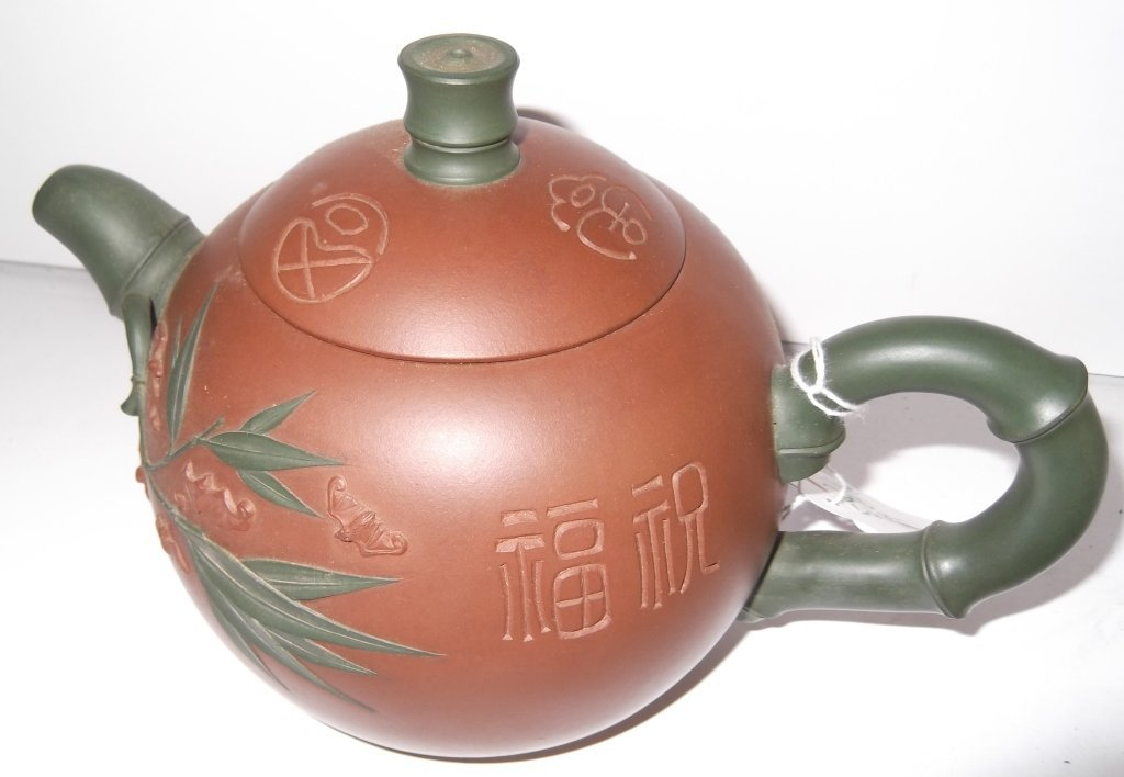 2 Yixing Chinese clay teapots - 8
