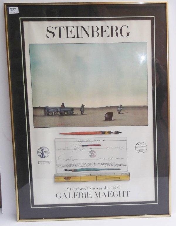 Steinberg galerie maeght poster 1973