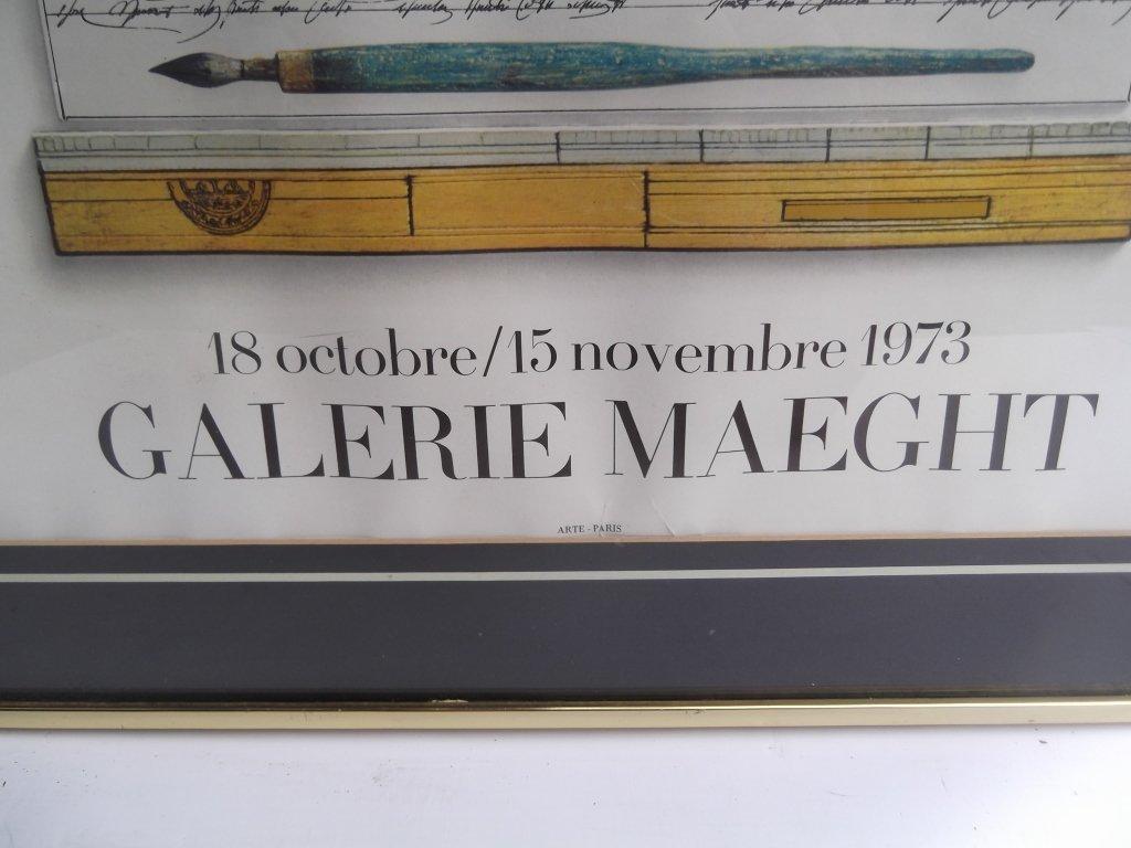 Steinberg galerie maeght poster 1973 - 5