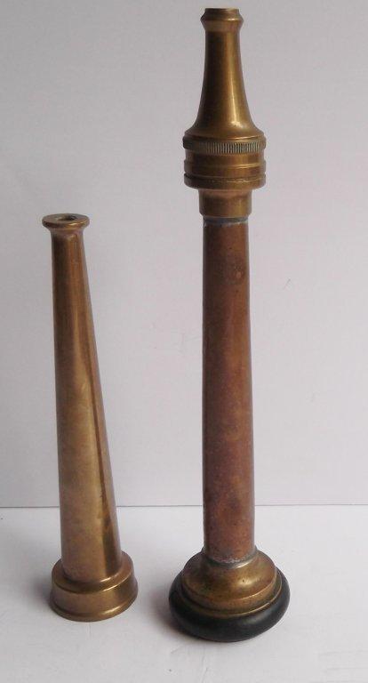 2 brass fire nozzles - 5