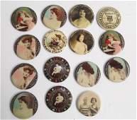 15 Vintage advertising pocket mirrors