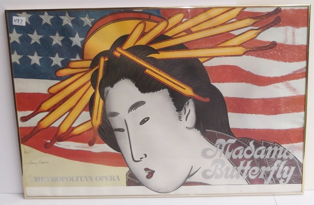 "1978 Metropolitan Opera ""Madama Butterfly"" poster"