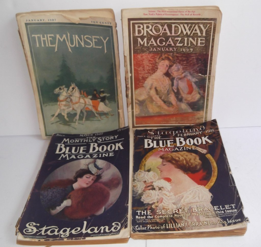 4 early 1900's magazines