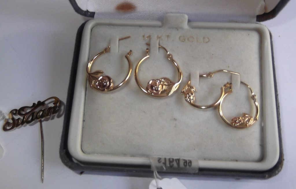 14 kt gold jewelry lot