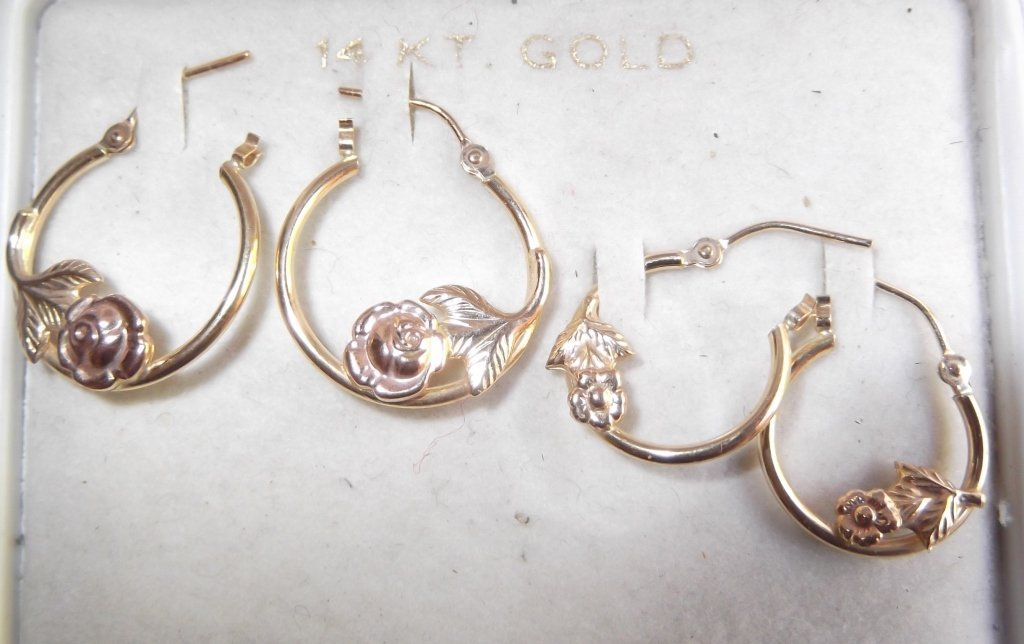 14 kt gold jewelry lot - 4