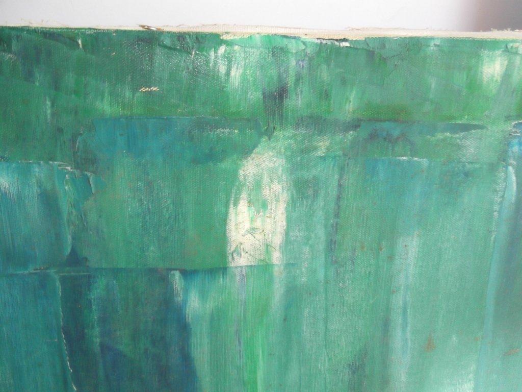 Mid-century modern abstract oil on canvas - 4