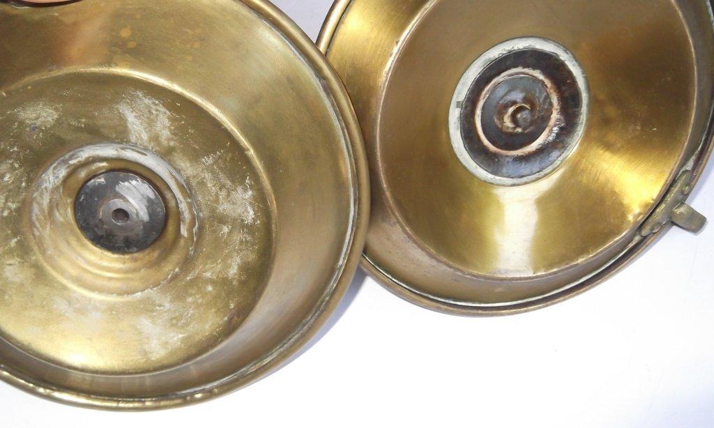 """6 brass """"hog scraper"""" candle holders - 4"""