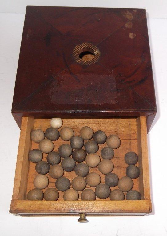 19th c. ballot box & balls