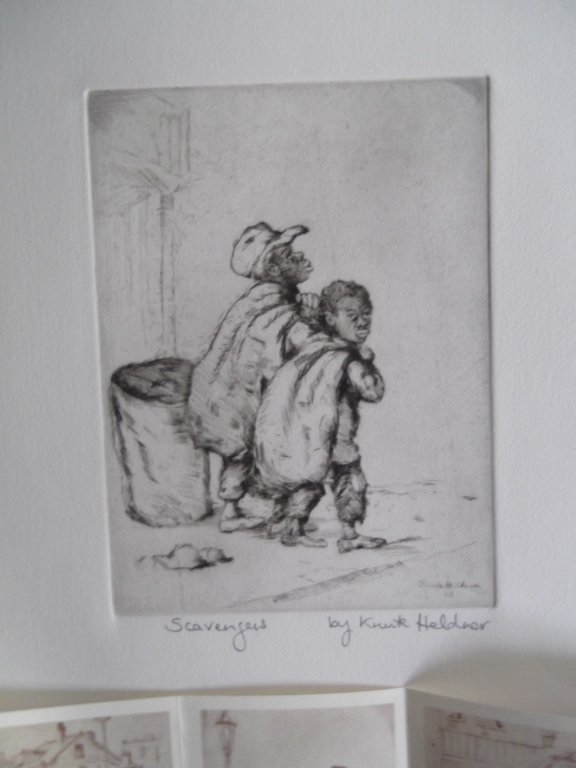 3 etchings by Knute Heldner - 3