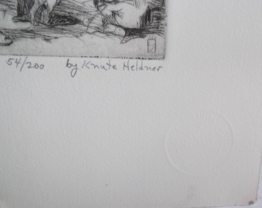 3 etchings by Knute Heldner - 7