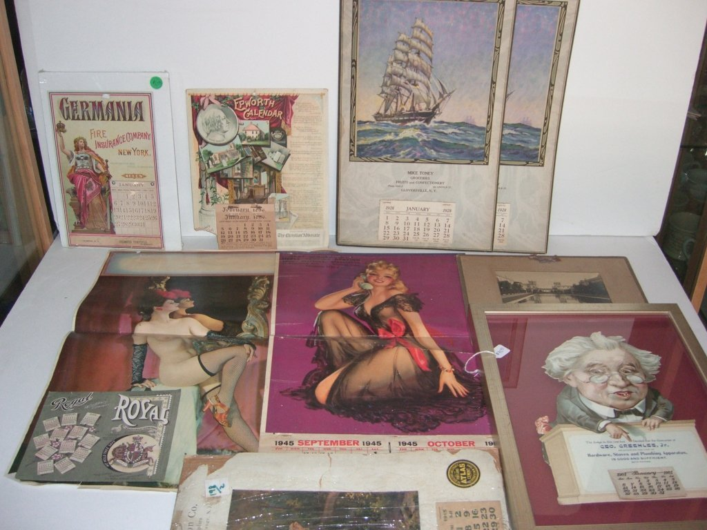 Collection of 10 advertising calendars