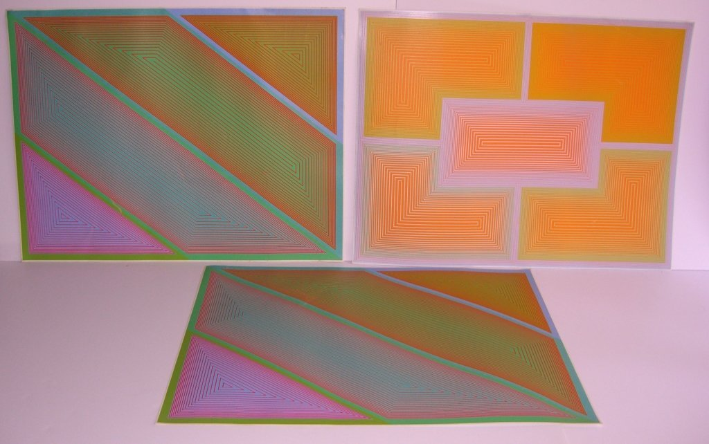3 1970's abstract lithographs