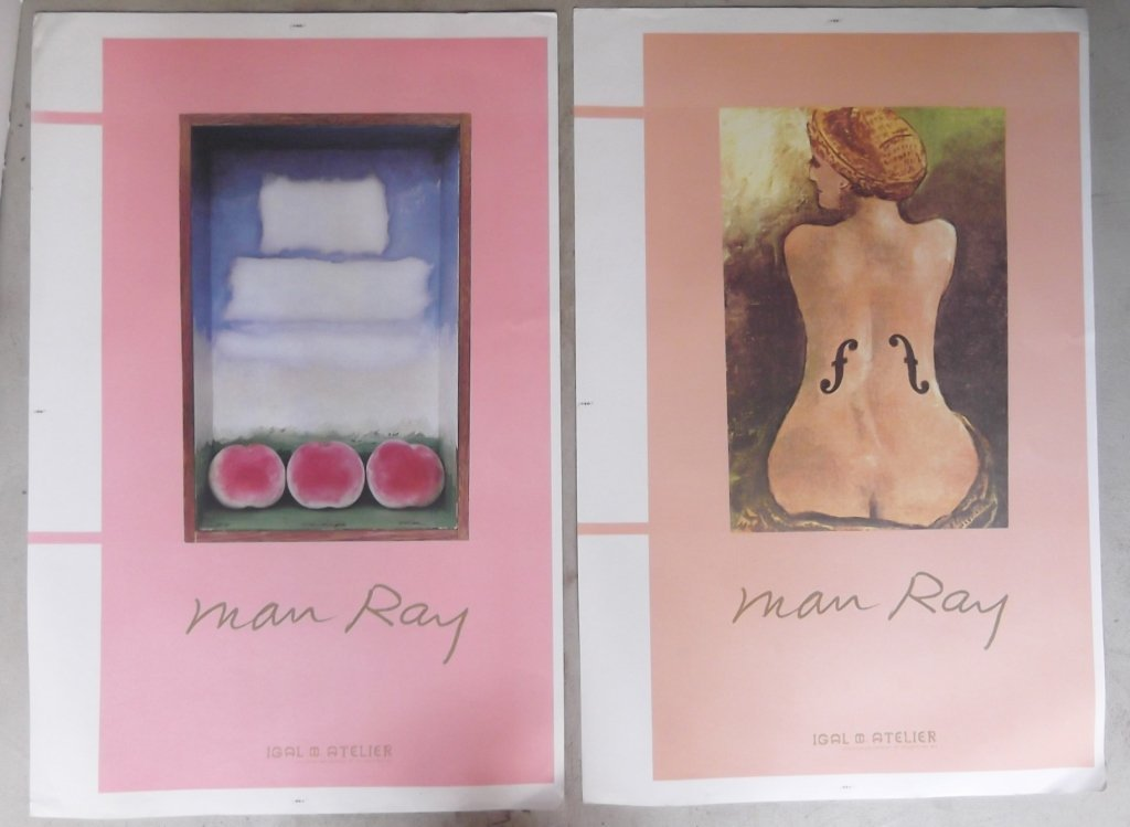 2 Man Ray exhibition posters