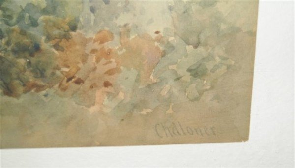watercolor signed Chandler - 2