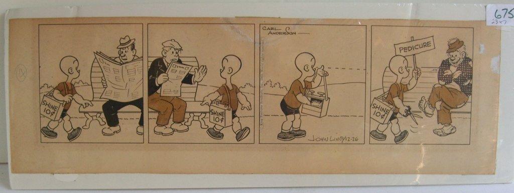 Carl Anderson comic strip drawing