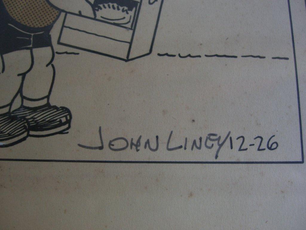 Carl Anderson comic strip drawing - 2